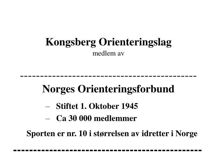 Kongsberg Orienteringslag