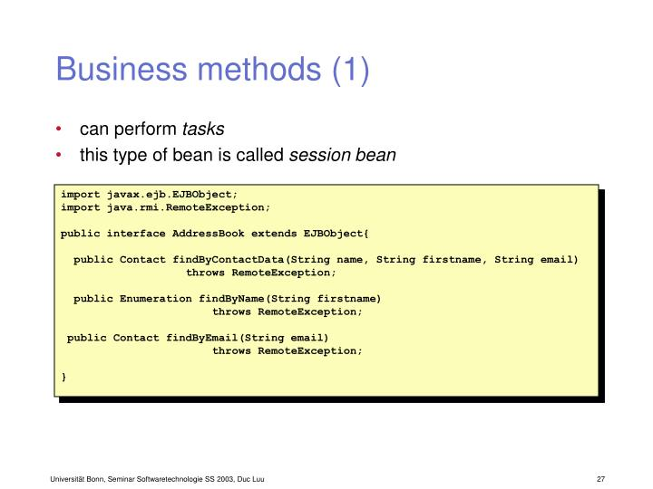 Business methods (1)