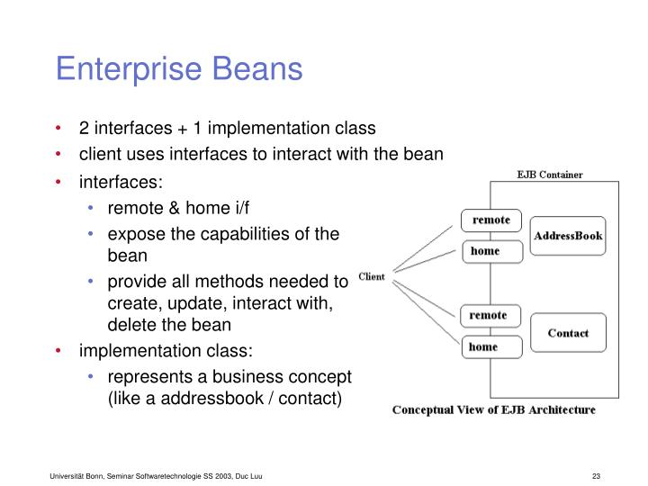 Enterprise Beans
