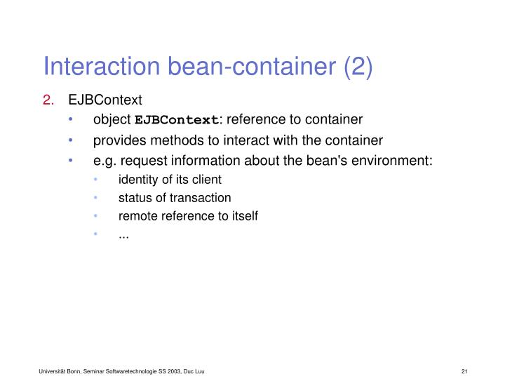 Interaction bean-container (2)