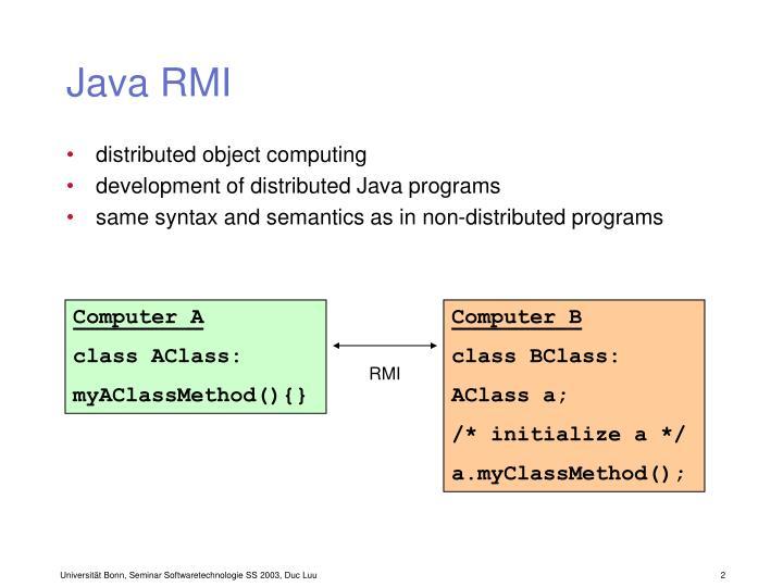 Java RMI