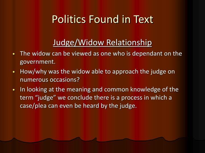 Politics Found in Text