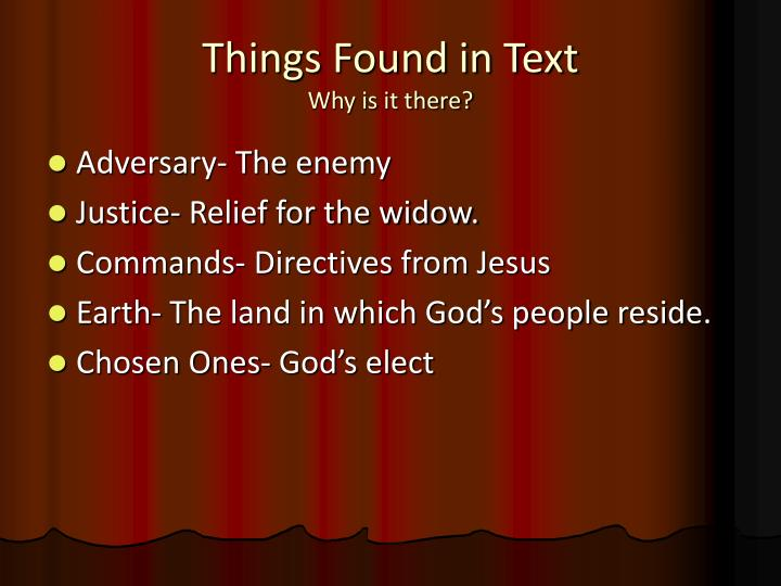 Things Found in Text