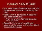inclusion a key to trust
