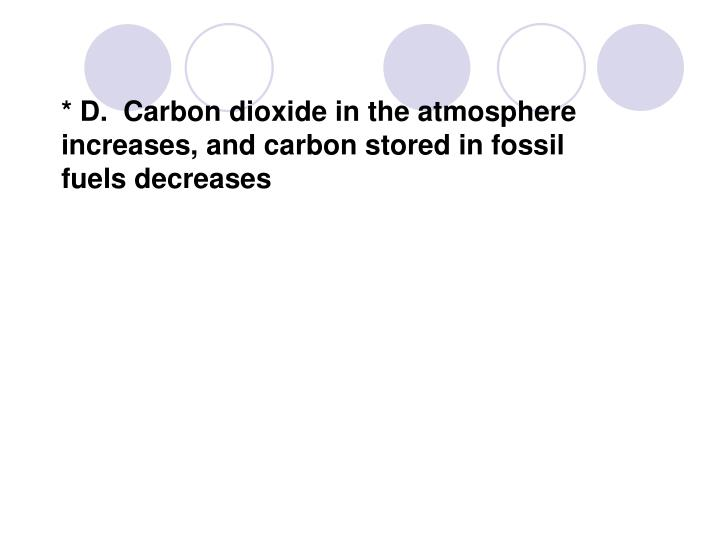 * D.  Carbon dioxide in the atmosphere