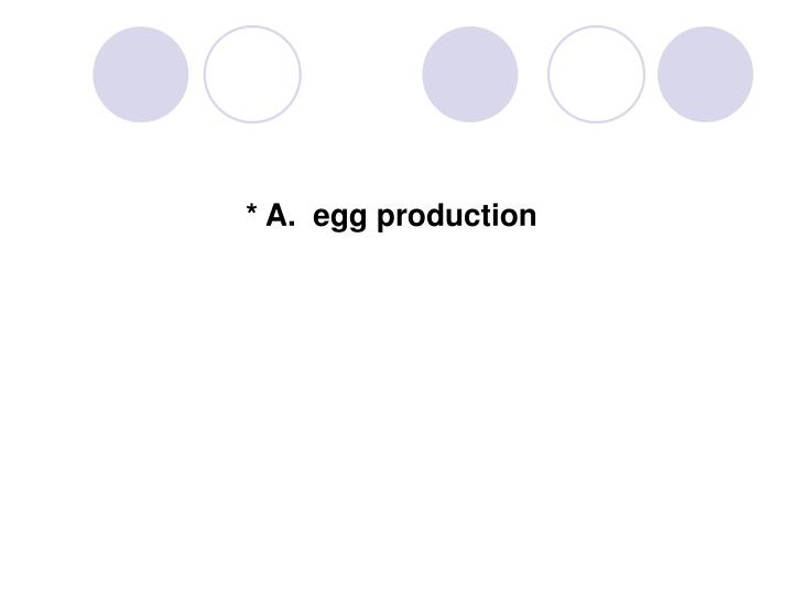 * A.  egg production