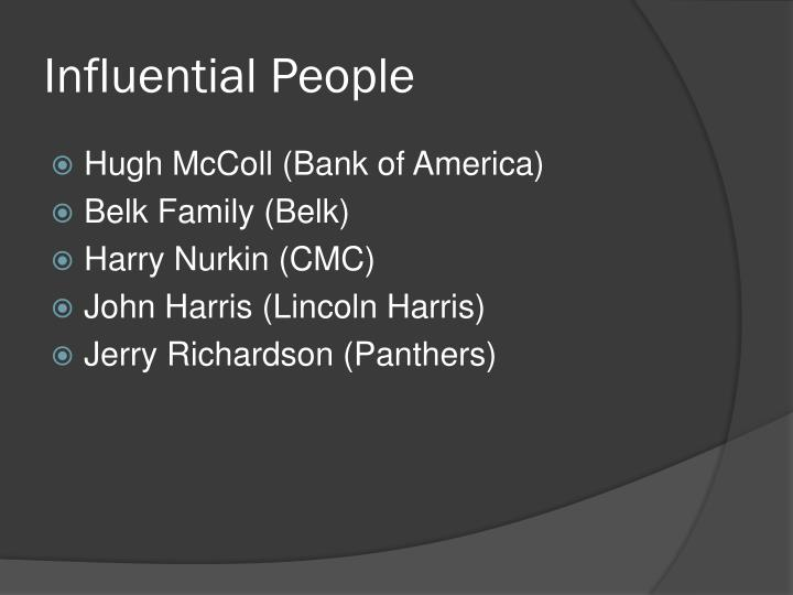 Influential People