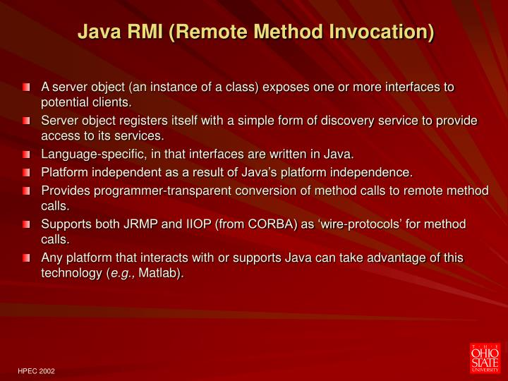 A Comparison of Java RMI, CORBA, and Web Services Technologies for Distributed SIP Applications - PowerPoint PPT Presentation
