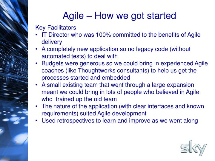 Agile – How we got started