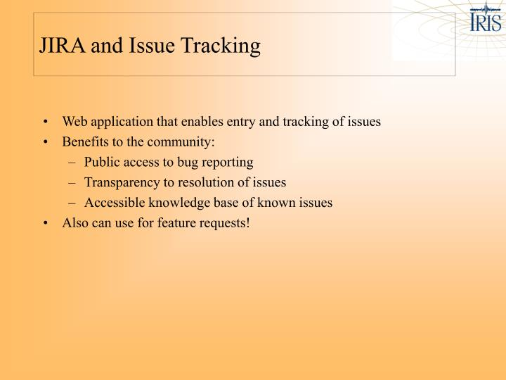 JIRA and Issue Tracking