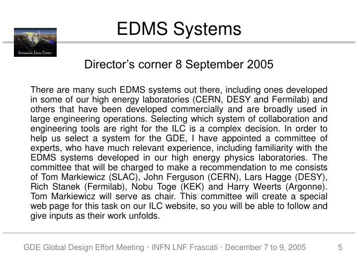 EDMS Systems