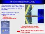 a forward tagger for clas12