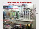 desy beam test in dec 09 setup