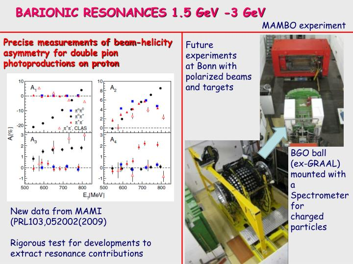 BARIONIC RESONANCES 1.5 GeV -3 GeV