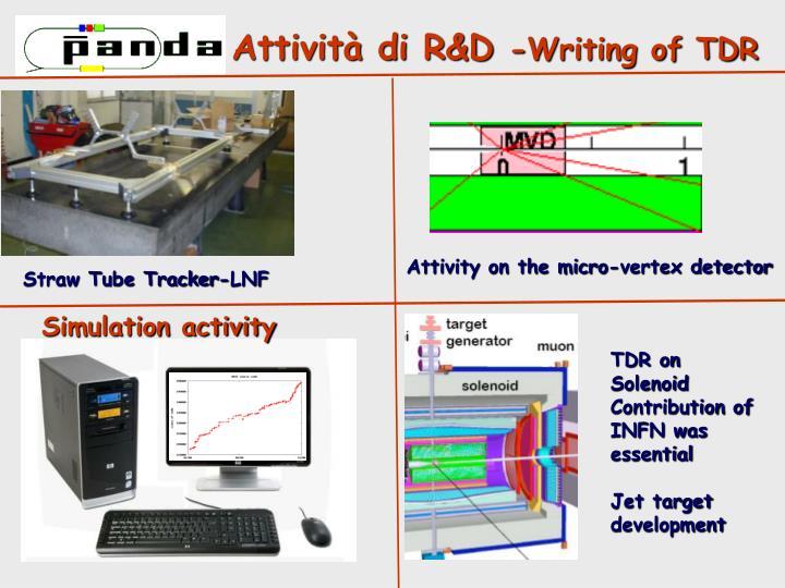Attività di R&D
