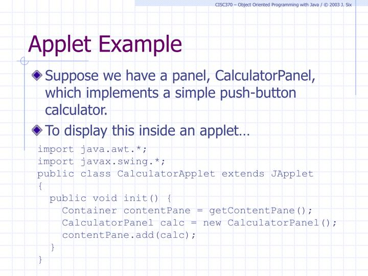 Applet Example