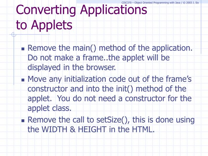 Converting Applications
