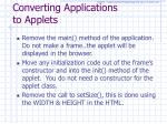 converting applications to applets1