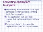 converting applications to applets2