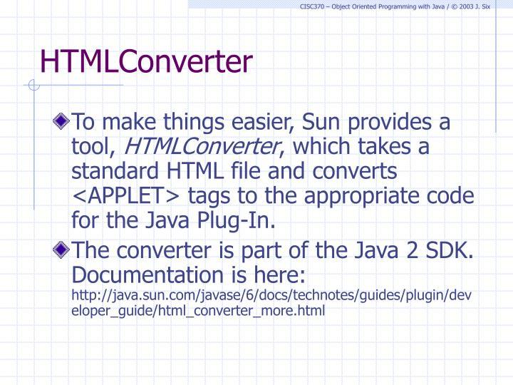 HTMLConverter