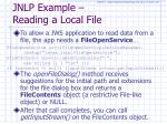jnlp example reading a local file