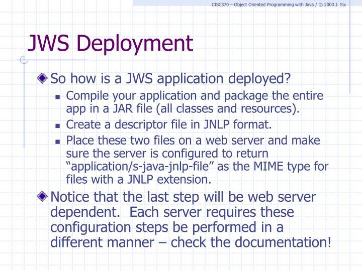 JWS Deployment