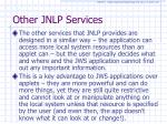 other jnlp services