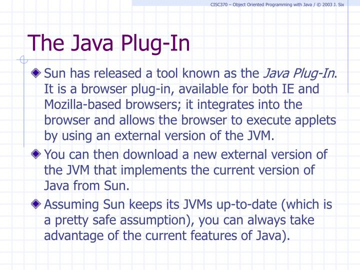 The Java Plug-In