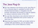 the java plug in