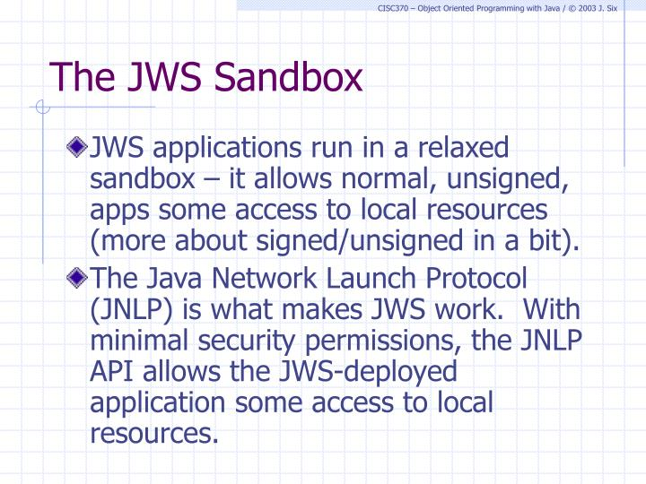 The JWS Sandbox