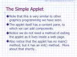 the simple applet