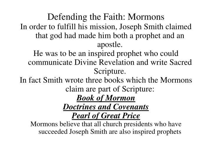 Defending the faith mormons1