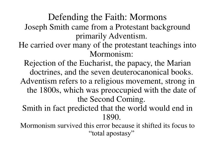 Defending the faith mormons2