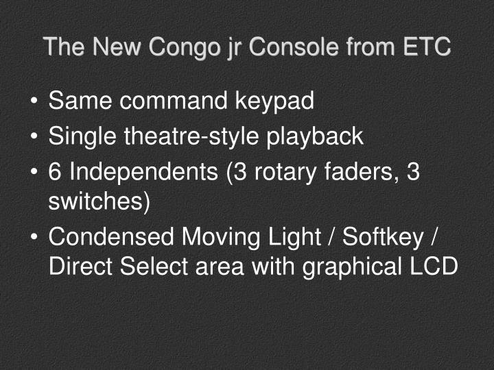The New Congo jr Console from ETC