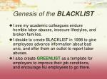 genesis of the blacklist1