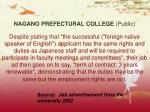 nagano prefectural college public
