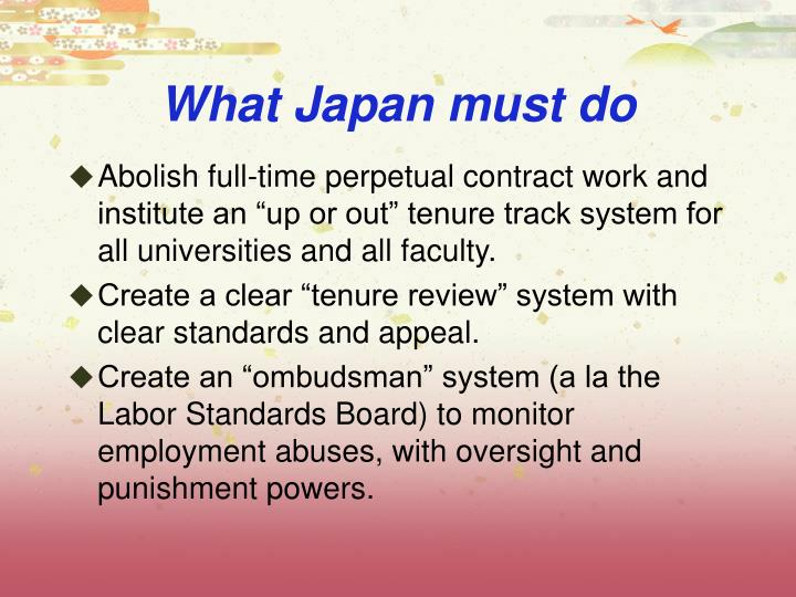 What Japan must do