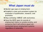 what japan must do1