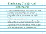 eliminating clich s and euphemisms