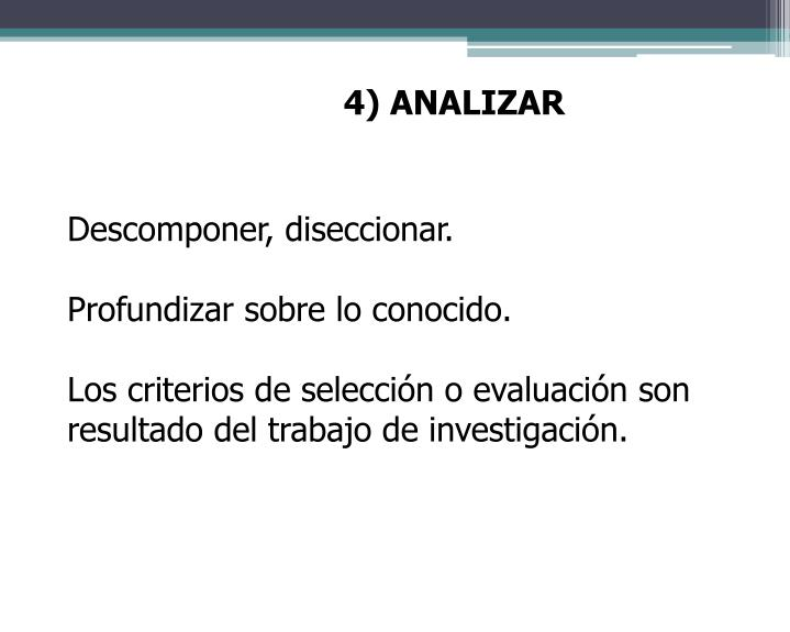 4) ANALIZAR
