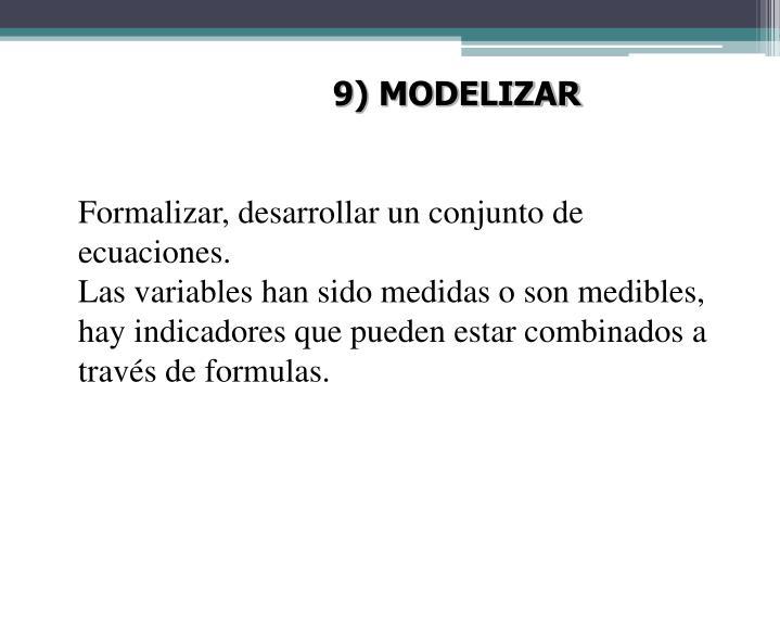 9) MODELIZAR