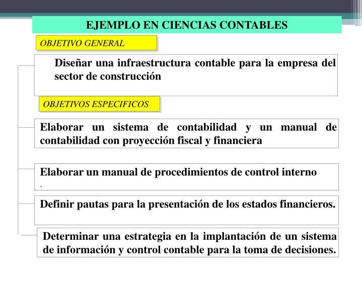 Diseñar una infraestructura contable para la empresa del sector de construcción