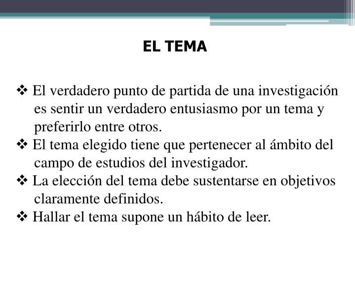 EL TEMA