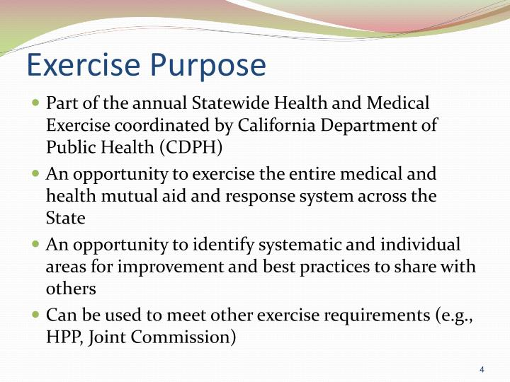 Exercise Purpose