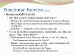 functional exercise cont