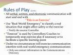 rules of play cont