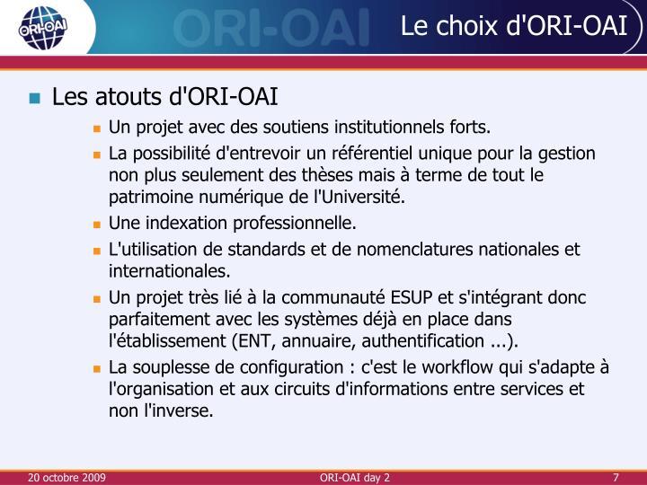 ORI-OAI day 2