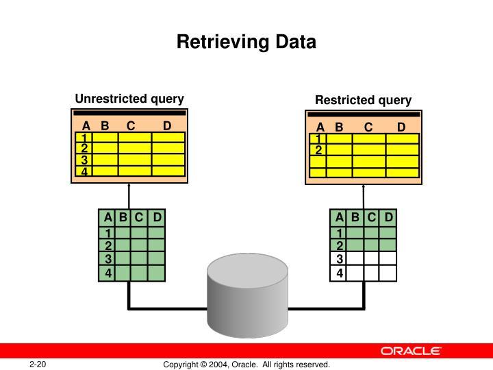 Retrieving Data