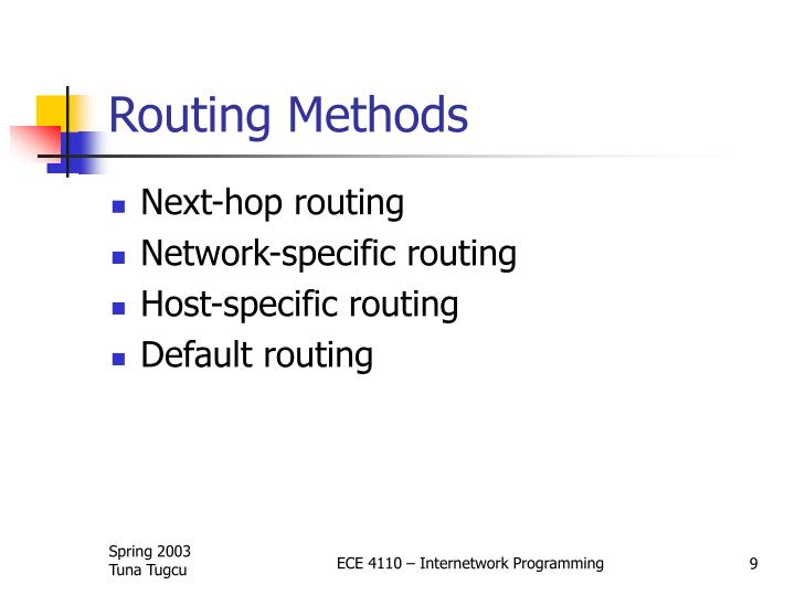 Routing Methods
