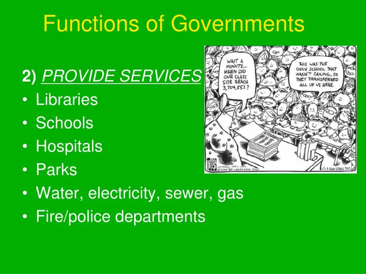Functions of Governments